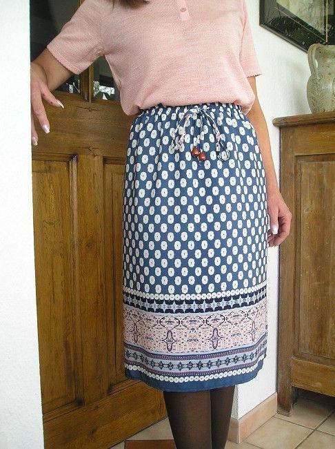 jupe maille doublée sénior