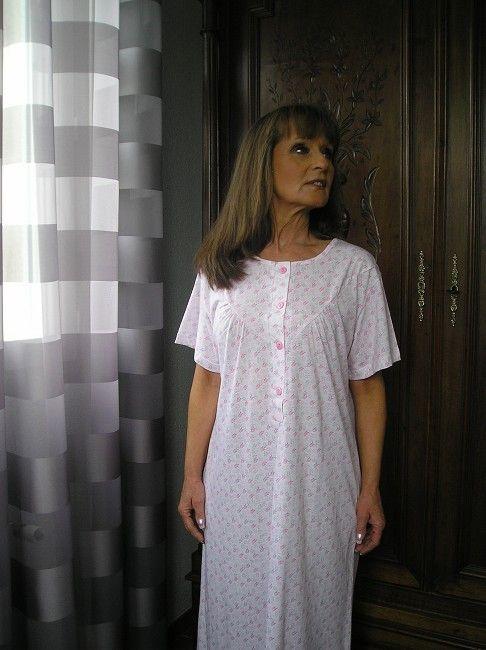chemise de nuit manches courtes