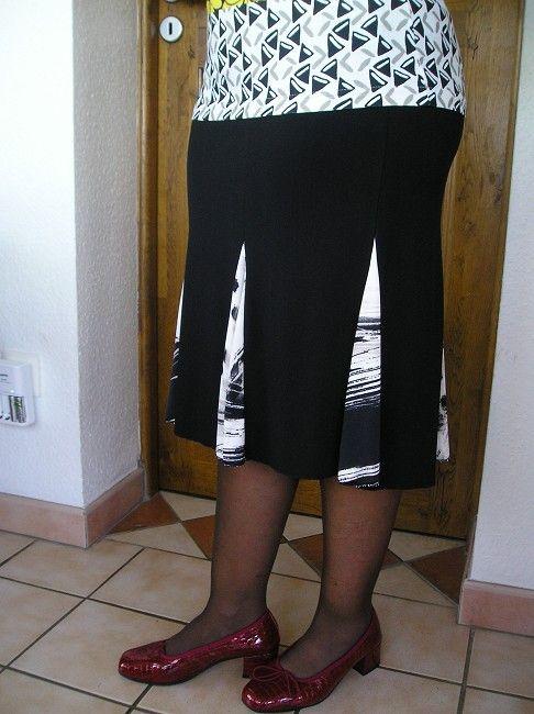 jupe taille élastiquée personne âgée