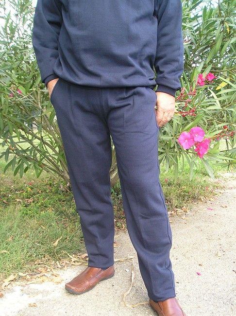 pantalon 100% polyester sénior taille élastiquée