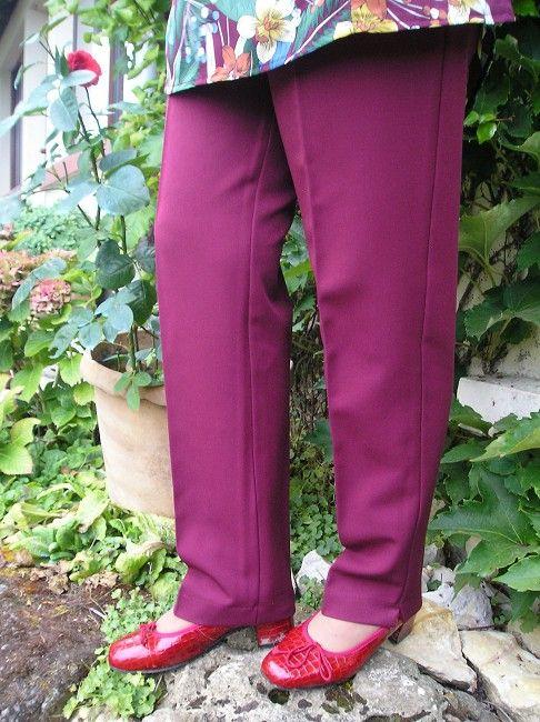 pantalon femme taille élastiquée