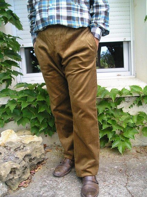 pantalon velours d'hiver sénior