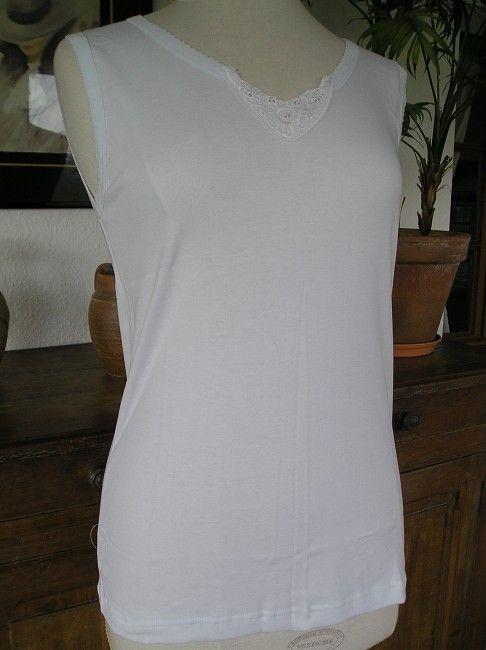 maillot de corps sans manche femme sénior