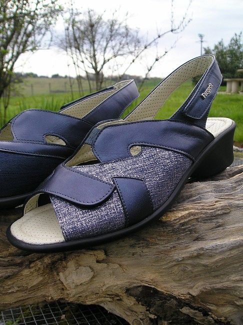 sandale cuir à bride sénior