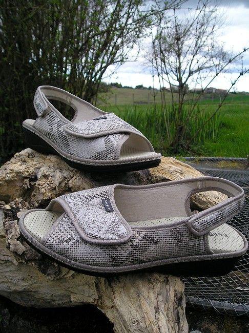 sandale 2 scratchs 3ème âge
