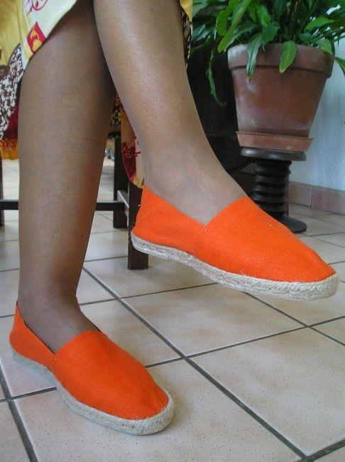 espadrille orange sénior