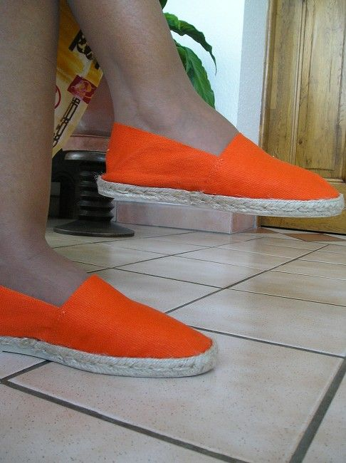 espadrille orange sénior