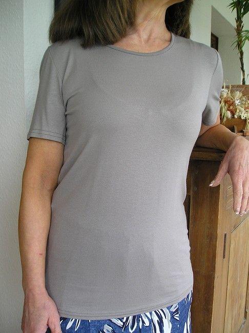 tee-shirt manches courtes taupe sénior