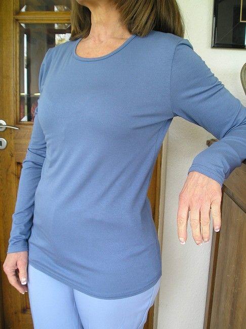 tee-shirt manches longues personne âgée