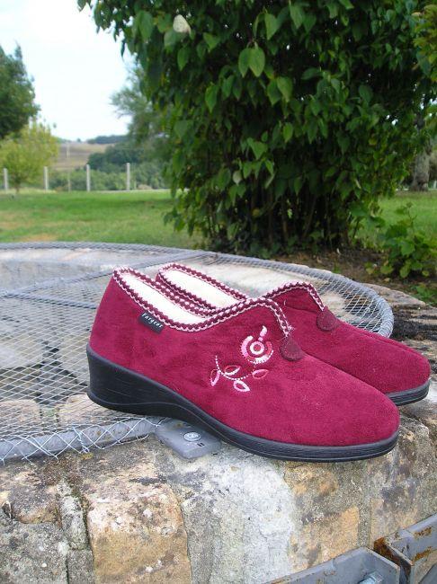 chaussure fourrée mamie