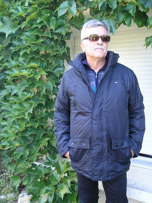 parka homme noire sénior 100% polyester