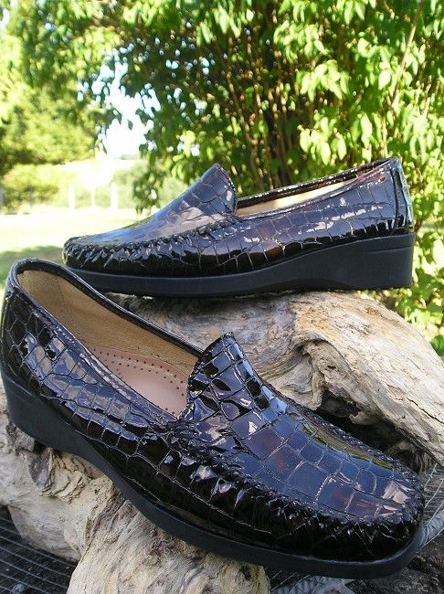 mocassin croco marron sénior