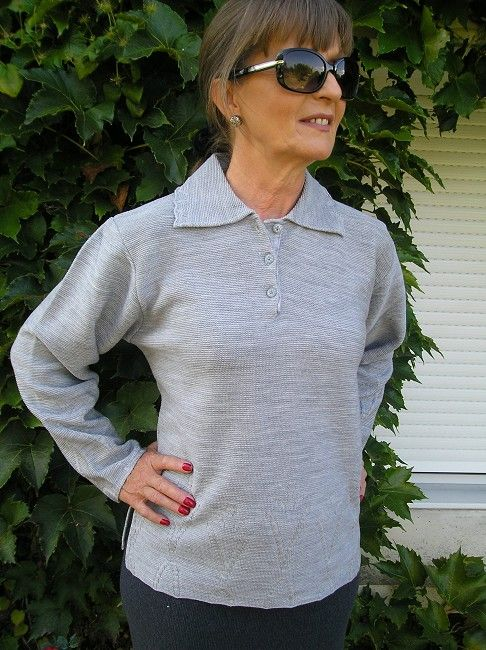 polo femme sénior manches longues