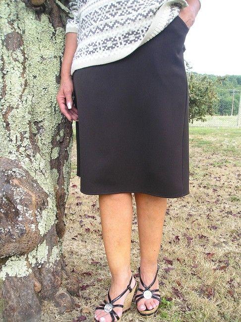 jupe doublée automne-hiver personne âgée