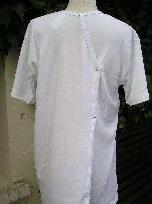 maillot de corps 100% coton fermé dos