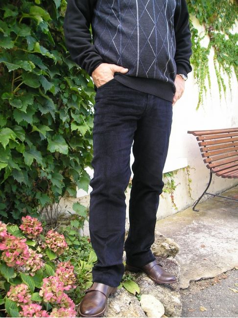 pantalon velours ras sénior