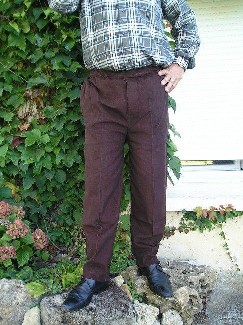 pantalon velours taille élastiquée personne âgée
