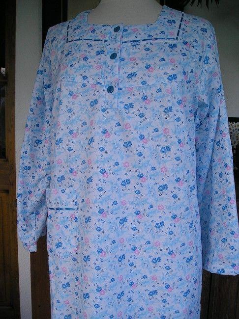 chemise de nuit manches longues sénior