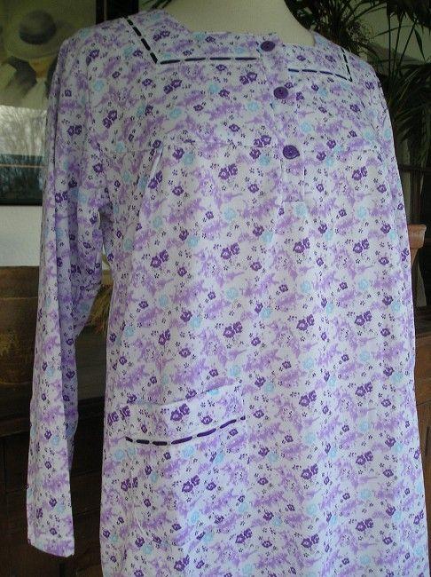 robe de nuit coton gratté personne âgée