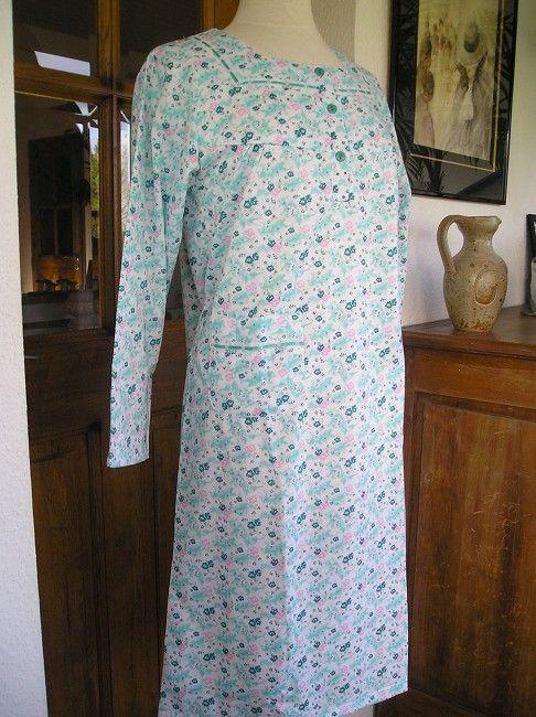 chemise de nuit chaude coton gratté