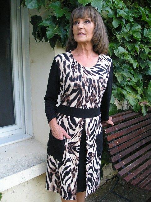robe 100% polyester sénior