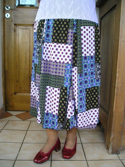 jupe imprimée mamie