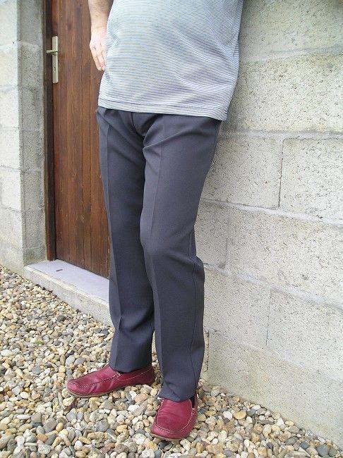 pantalon élastiqué sénior pur polyester