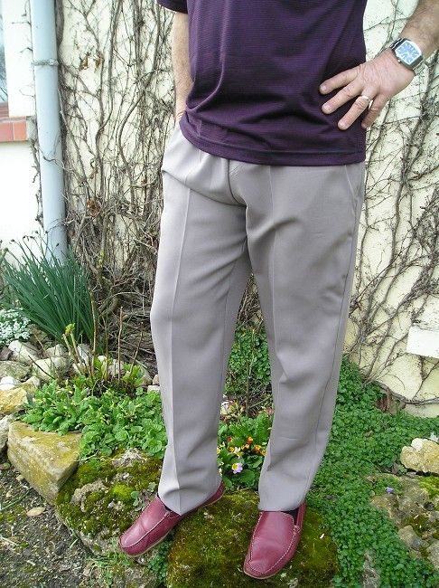 pantalon de ville taille élastiquée personne âgée