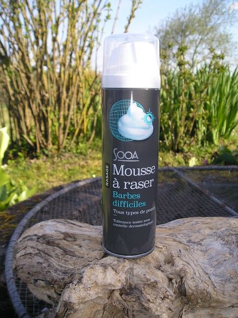 mousse à raser barbes difficiles sénior