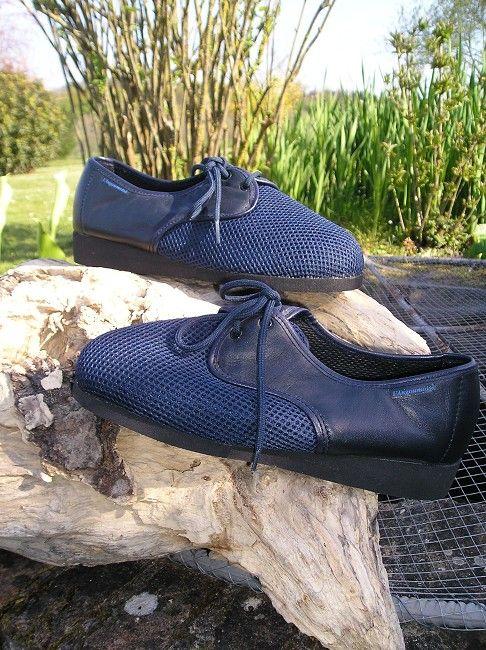 chaussure cuir large 3 ème âge