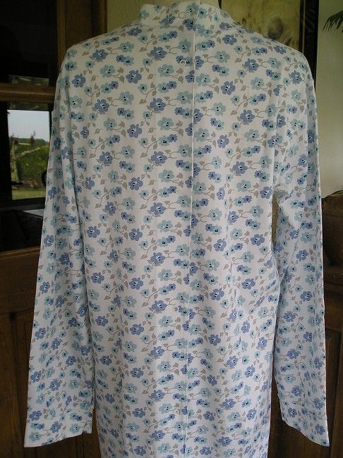 robe de nuit médicalisée 100% coton sénior
