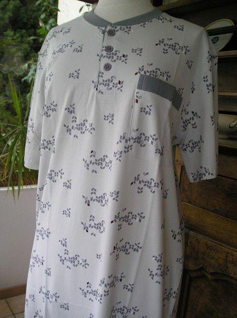 chemise de nuit sénior manches courtes