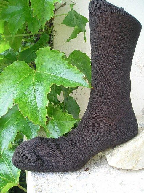chaussette fil d'écosse personne âgé