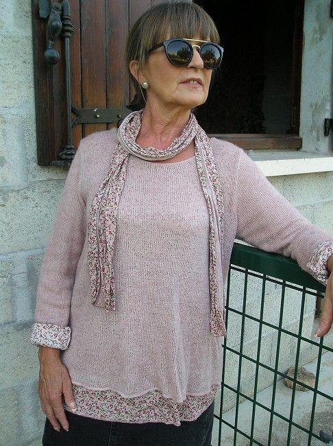 pull-tunique personne âgée