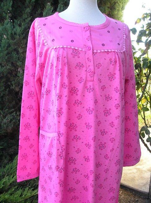 chemise de nuit automne-hiver mamie