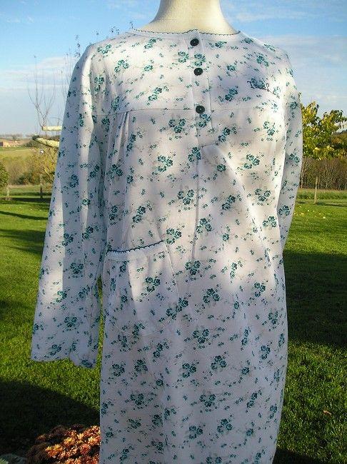 chemise de nuit coton 3 ème âge