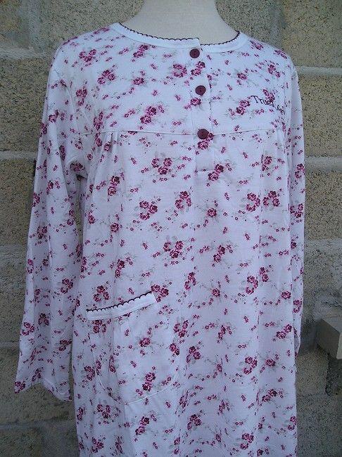 chemise de nuit chaude sénior