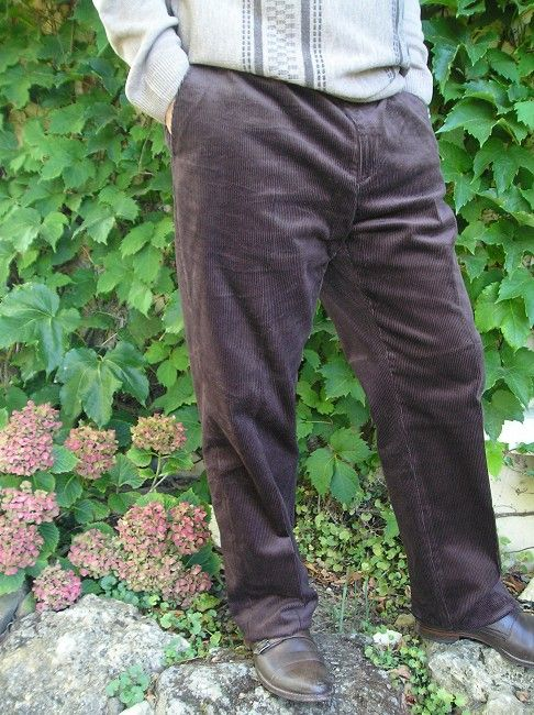pantalon velours réglo sénior
