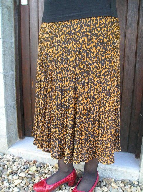 jupe plissée personne âgée
