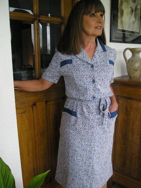 robe coton printemps-été personne âgée