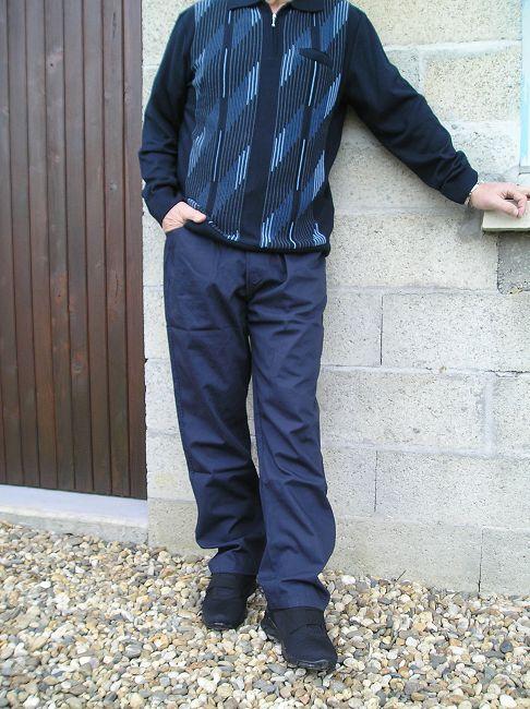 pantalon 100% coton sénior homme