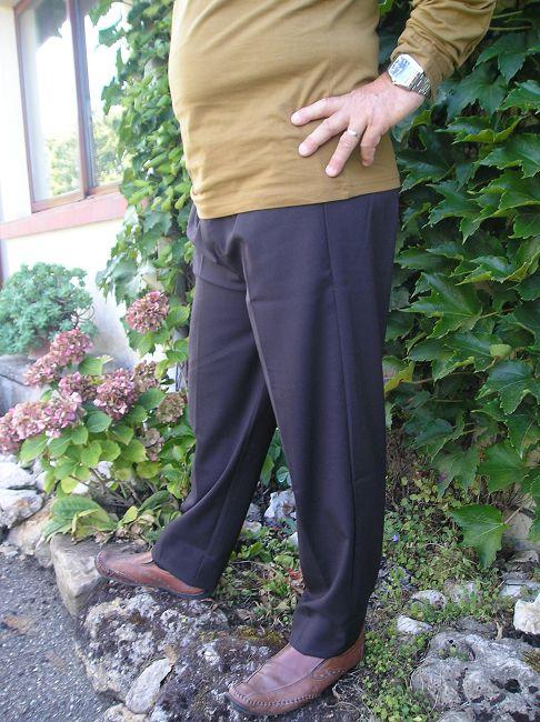 pantalon 100% polyester taille élastiquée 3 ème âge
