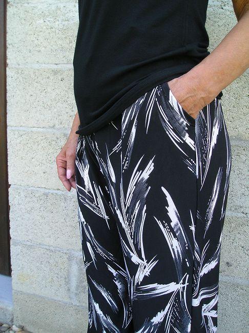 pantalon fluide noir sénior