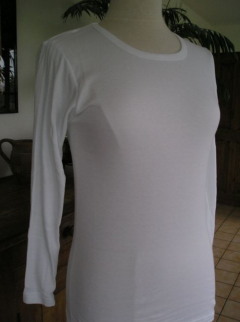 maillot de corps sénior ouvert dos manches longues