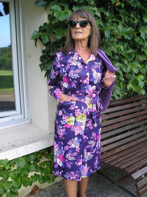 robe fermée 100% polyester personne âgée