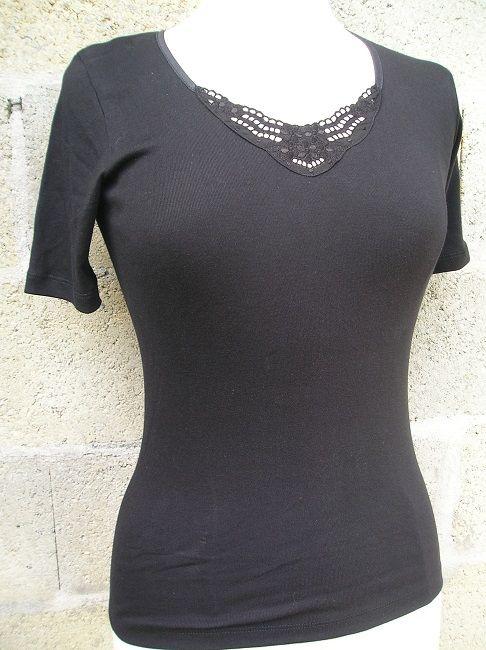 maillot de corps sénior noir