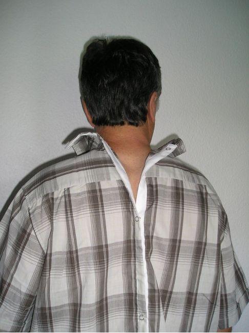 chemisette ouverte dos