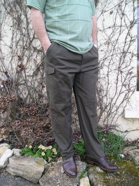 pantalon 100% coton d'été homme