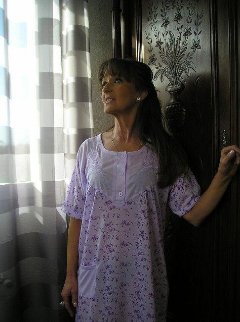 chemise de nuit sénior grande taille