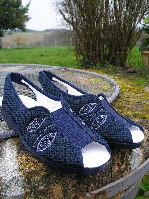 sandale bride arrière personne âgée